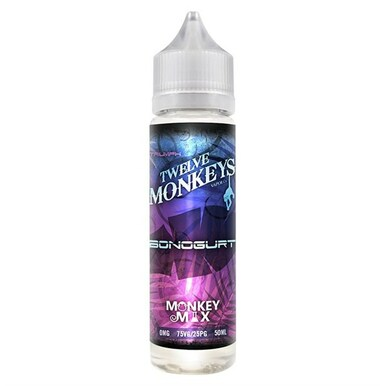 Bonogurt E Liquid 60ml By Twelve Monkeys (70ml of e liquid with 1 x 10ml nicotine shots to make 3mg)