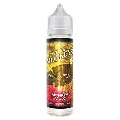 Congo Cream E Liquid 50ml By Twelve Monkeys (60ml of e liquid with 1 x 10ml nicotine shots to make 3mg)