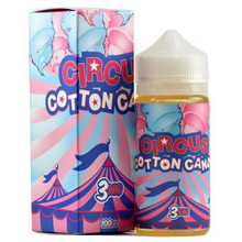 Circus Cotton Candy E Liquid 80ml Shortfill  (100ml Shortfill with 2 x 10ml nicotine shots to make 3mg) By Circus