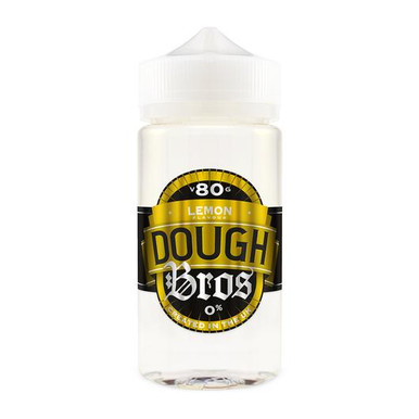 Lemon Dough Bros E Liquid 80ml Shortfill  (100ml Shortfill with 2 x 10ml nicotine shots to make 3mg) By Dough Bros