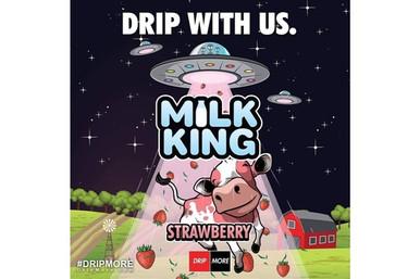 Strawberry E Liquid (120ml with 2 x 10ml nicotine shots to make 3mg) by Milk King E Liquid (Zero Nicotine)