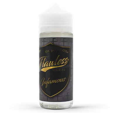 Infamous E Liquid Shortfill (120ml with 2 x 10ml nicotine shots to make 3mg) by Flawless E Liquid Only £21.49 (Zero Nicotine)