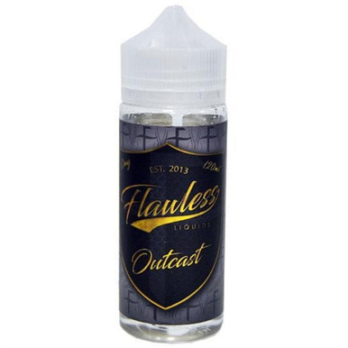 Outcast E Liquid Shortfill (120ml with 2 x 10ml nicotine shots to make 3mg) by Flawless E Liquid Only £21.49 (Zero Nicotine)
