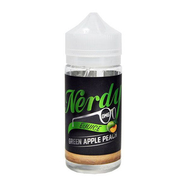 Green Apple Peach E Liquid 80ml Shortfill (100ml Shortfill with 2 x 10ml nicotine shots to make 3mg) By Nerdy