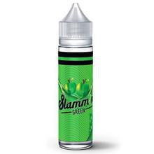 Slammin Green E Liquid 50ml(60ml with 1 x 10ml nicotine shots to make 3mg) by Slammin (Zero Nicotine)