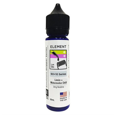 Limon Watermelon Chill E Liquid 50ml(60ml with 1 x 10ml nicotine shots to make 3mg) by Element Emulsions Dripper Series (Zero Nicotine)