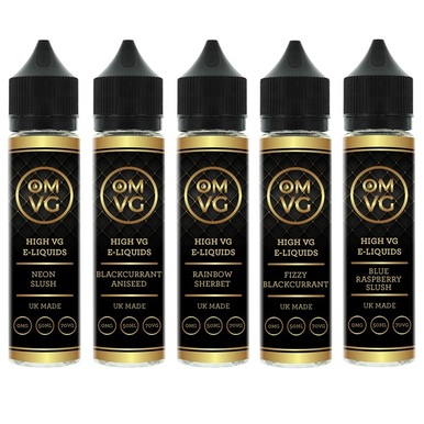 5 x 50ml OMVG High VG E Liquids Variety Pack £23.99 Free Delivery