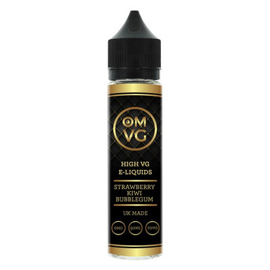 Strawberry Kiwi Bubble Gum Shortfill E Liquid 50ml by OMVG (FREE NICOTINE SHOT)