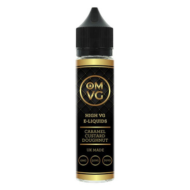 Caramel Custard Doughnut Shortfill E Liquid 50ml by OMVG (FREE NICOTINE SHOT)