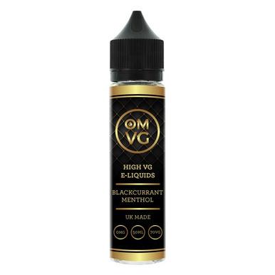 Blackcurrant Menthol Shortfill E Liquid 50ml by OMVG (FREE NICOTINE SHOT)