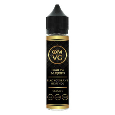 Blackcurrant Menthol Shortfill E Liquid 50ml by OMVG (FREE NICOTINE SHOT)