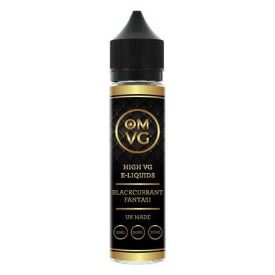 Blackcurrant Fantasi Shortfill E Liquid 50ml by OMVG (FREE NICOTINE SHOT)