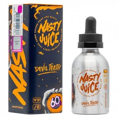Devil Teeth E Liquid 50ml(60ml with 1 x 10ml nicotine shots to make 3mg Shortfill by Nasty Juice