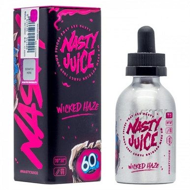 Wicked Haze E Liquid 50ml(60ml with 1 x 10ml nicotine shots to make 3mg Shortfill by Nasty Juice