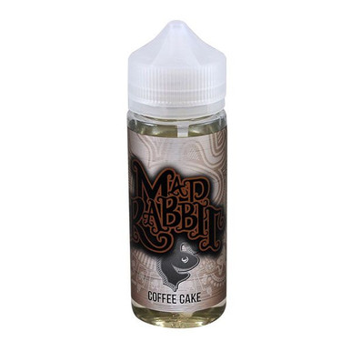 Coffee Cake E Liquid 100ml(120ml with 2 x 10ml nicotine shots to make 3mg) Shortfill by Mad Rabbit