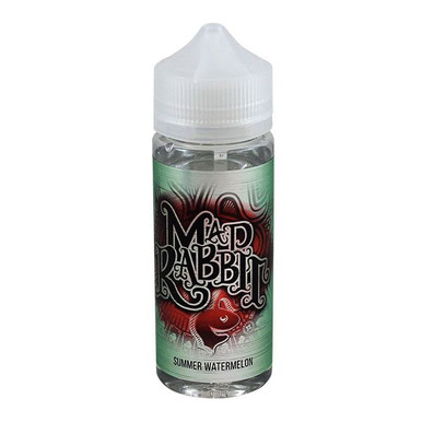 Summer Watermelon E Liquid 100ml(120ml with 2 x 10ml nicotine shots to make 3mg) Shortfill by Mad Rabbit