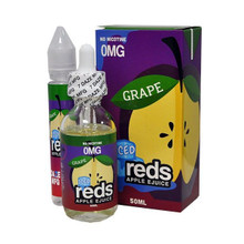 Grape Iced E Liquid 50ml (60ml with 1 x 10ml nicotine shots to make 3mg) Shortfill by Reds E Juice