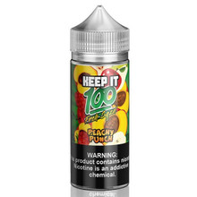 Peachy Punch E Liquid 100ml (120ml with 2 x 10ml nicotine shots to make 3mg) Shortfill By Keep It 100