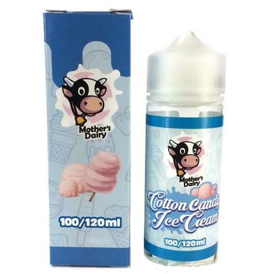 Cotton Candy Ice Cream E Liquid 100ml by Mothers Dairy (Zero Nicotine & Free Nic Shots to make 120ml/3mg)