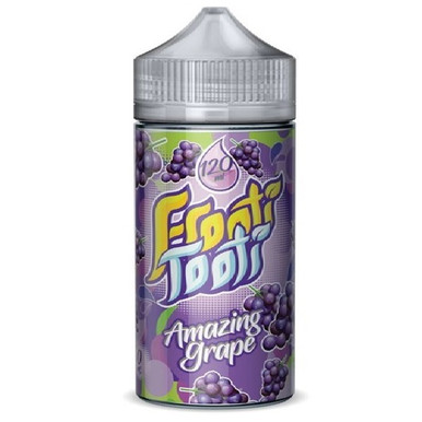 Amazing Grape E Liquid 200ml Shortfill (240ml with 4 x 10ml nicotine shots to make 3mg) by Frooti Tooti E Liquids Only £19.99 (FREE NICOTINE SHOTS)