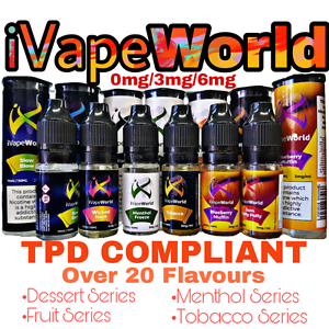 10 x 10ml High VG iVape World E Liquids Variety Pack £9.99