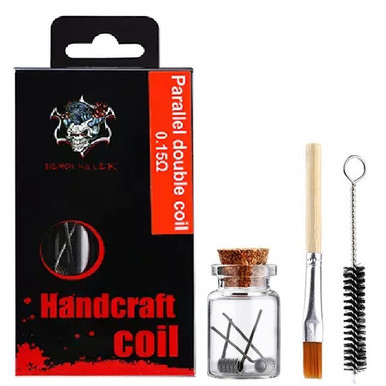 Demon Killer Handcraft Parallel Double Coil Prebuilt Wire Set Ni80 0.15 Ohms Packaging