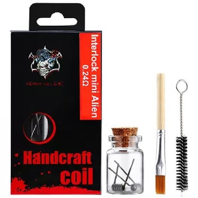 Demon Killer Handcraft Interlock Mini Alien Prebuilt Wire Set Ni80 0.24 Ohms