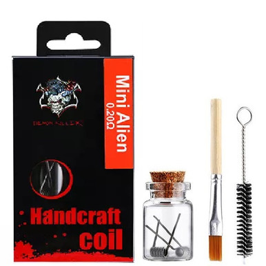 Demon Killer Handcraft Mini Alien Prebuilt Wire Set Ni80 0.20 Ohms Packaging
