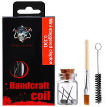 Demon Killer Handcraft Mini Staggered Clapton Prebuilt Wire Set Ni80 0.30 Ohms Packaging