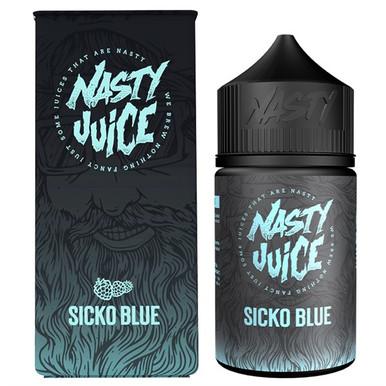 Sicko Blue E Liquid 50ml(60ml with 1 x 10ml nicotine shots to make 3mg Shortfill by Nasty Juice