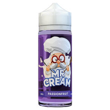 Passion Fruit E Liquid 100ml by Mr Cream (Zero Nicotine & Free Nic Shots to make 120ml/3mg)