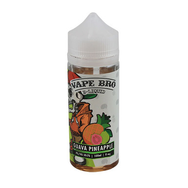 Guava & Pineapple E Liquid 100ml by Vape Bros (Zero Nicotine & Free Nic Shots to make 120ml/3mg)