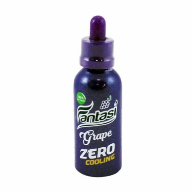 Grape Zero Cooling E Liquid 50ml (60ml with 1 x 10ml nicotine shots to make 3mg) Shortfill by Fantasi