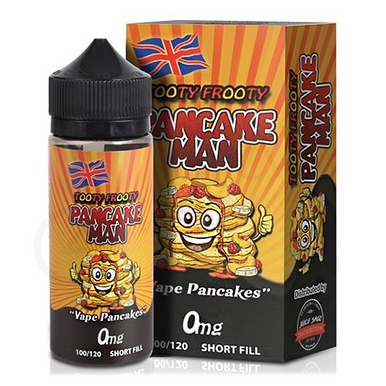 Tooty Frooty Pancake Man E Liquid 100ml (Zero Nicotine) by Vape Breakfast Classics