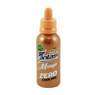 Mango Zero Cooling E Liquid 50ml (60ml with 1 x 10ml nicotine shots to make 3mg) Shortfill by Fantasi