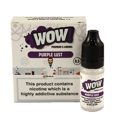 Purple Lust High VG E Liquid 3 x 10ml By Wow E Liquids