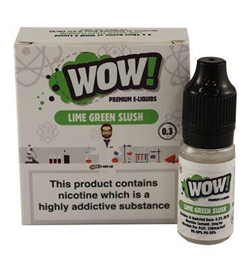 Lime Green Slush High VG E Liquid 3 x 10ml By Wow E Liquids