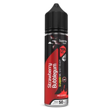 Superstar Vapes Strawberry Bubblegum Premium High VG (70/30) E Liquid 50ml