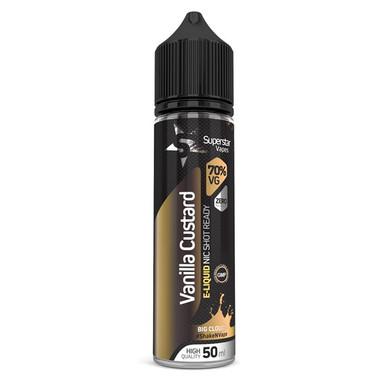 Superstar Vapes Vanilla Custard Premium High VG (70/30) E Liquid 50ml