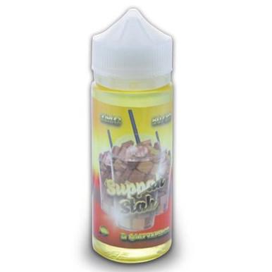Suppah Stah Eliquid 100ml (120ml with 2 x 10ml nicotine shots to make 3mg) by Slushed Up (Zero Nicotine)