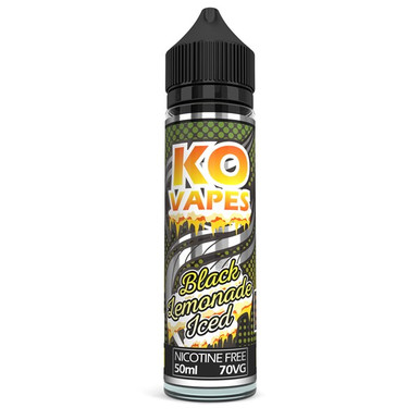 Black Lemonade Iced E Liquid 50ml by KO Vapes (Includes Free Nicotine Shot)