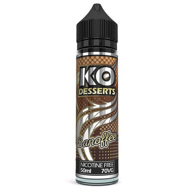 Banoffee E Liquid 50ml by KO Vapes (Includes Free Nicotine Shot)
