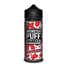 Strawberry E Liquid (Zero Nicotine & Free Nic Shots to make 120ml/3mg) by Moreish Puff