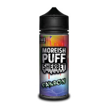 Rainbow Sherbet E Liquid (Zero Nicotine & Free Nic Shots to make 120ml/3mg) by Moreish Puff
