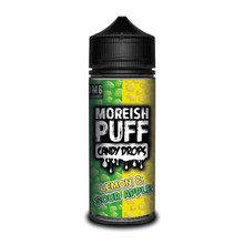 Lemon & Sour Apple E Liquid (Zero Nicotine & Free Nic Shots to make 120ml/3mg) by Moreish Puff