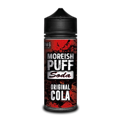 Original Cola E Liquid (Zero Nicotine & Free Nic Shots to make 120ml/3mg) by Moreish Puff