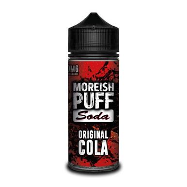 Original Cola E Liquid (Zero Nicotine & Free Nic Shots to make 120ml/3mg) by Moreish Puff
