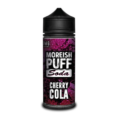 Cherry Cola E Liquid (Zero Nicotine & Free Nic Shots to make 120ml/3mg) by Moreish Puff