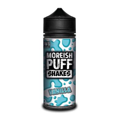 Vanilla Shakes E Liquid (Zero Nicotine & Free Nic Shots to make 120ml/3mg) by Moreish Puff