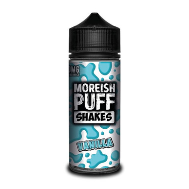 Vanilla Shakes E Liquid (Zero Nicotine & Free Nic Shots to make 120ml/3mg) by Moreish Puff